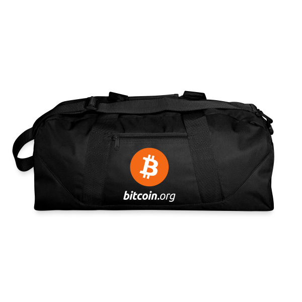 Bitcoin Logo Duffel Bag