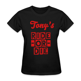 His Ride-Or-Die Customizable Tee - Name on Back ~ 625