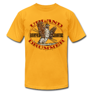 T-Shirts ~ Men's T-Shirt by American Apparel ~ Ruffed Grouse Upland Drummer