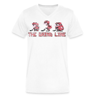 T-Shirts ~ Men's V-Neck T-Shirt by Canvas ~ Classic Grind Line Throwback