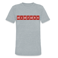 T-Shirts ~ Unisex Tri-Blend T-Shirt by American Apparel ~ Retired Numbers
