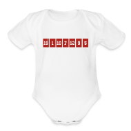 Baby & Toddler Shirts ~ Baby Short Sleeve One Piece ~ Retired Numbers