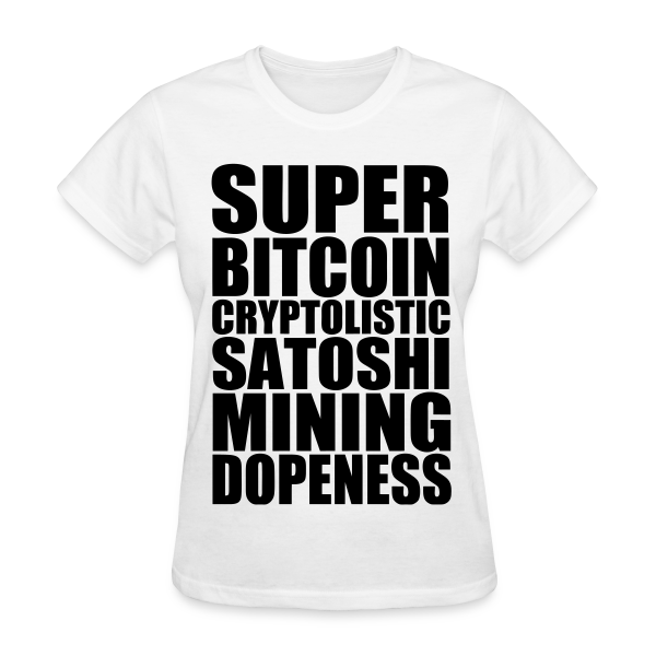 Super Bitcoin White T Shirt