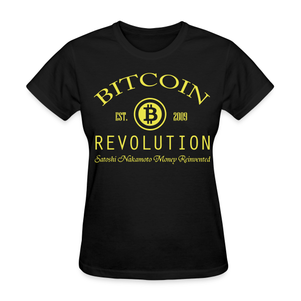 Bitcoin Revolution Black T Shirt
