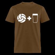 T-Shirts ~ Men's T-Shirt ~ Football & Beer