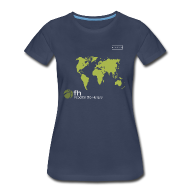 Women's T-Shirts ~ Women's Premium T-Shirt ~ FH Map Green