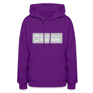 Hoodies ~ Women's Hooded Sweatshirt ~ Not available on the App Store - Grey