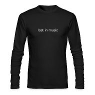 Long Sleeve Shirts ~ Men's Long Sleeve T-Shirt by American Apparel ~ lost in music long-sleeve men's T