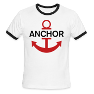 T-Shirts ~ Men's Ringer T-Shirt by American Apparel ~ Luffy Anchor