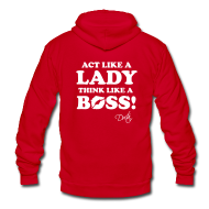 Zip Hoodies & Jackets ~ Unisex Fleece Zip Hoodie by American Apparel ~ Lady Boss