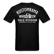 T-Shirts ~ Men's T-Shirt ~ Kustomrama Oslo Division Black