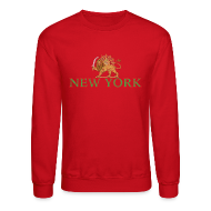 Long Sleeve Shirts ~ Men's Crewneck Sweatshirt ~ New York Iran Flag
