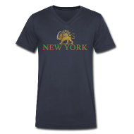 T-Shirts ~ Men's V-Neck T-Shirt by Canvas ~ New York Iran Flag