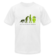 T-Shirts ~ Men's T-Shirt by American Apparel ~ The Evolution of Android