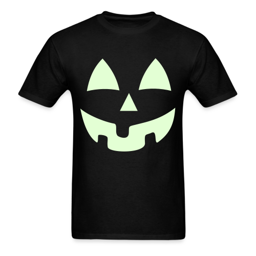Halloween Jack-O-Lantern Pumpkin Face Shirt Costume Glow In the Dark