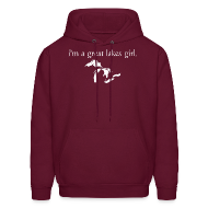 Hoodies ~ Men's Hooded Sweatshirt ~  I'm A Great Lakes Girl