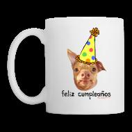 Bottles & Mugs ~ Coffee/Tea Mug ~ Happy Birthday in Spanish