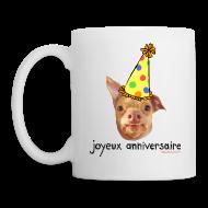 Bottles & Mugs ~ Coffee/Tea Mug ~ Happy Birthday in French