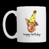 Bottles & Mugs ~ Coffee/Tea Mug ~ Happy Birthday in English