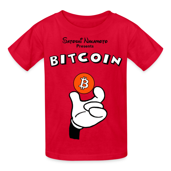 Kids Mickey Holding Bitcoin T Shirt