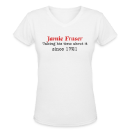 Women's T-Shirts ~ Women's V-Neck T-Shirt ~ Taking His Time