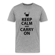 T-Shirts ~ Men's Premium T-Shirt ~ keep calm and carry on