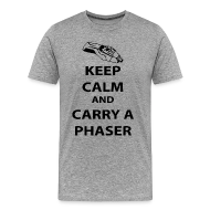 T-Shirts ~ Men's Premium T-Shirt ~ keep calm and carry a phaser