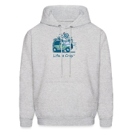 Hoodies ~ Men's Hooded Sweatshirt ~ Jeep Mountain Bike Overpass