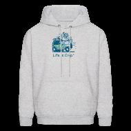 Hoodies ~ Men's Hooded Sweatshirt ~ Jeep Mountain Bike Overpass
