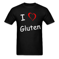T-Shirts ~ Men's T-Shirt ~ I Heart Gluten