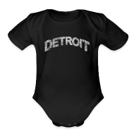 Baby & Toddler Shirts ~ Baby Short Sleeve One Piece ~ Distressed Detroit Arch