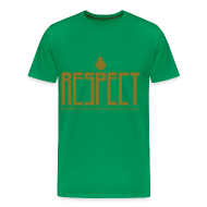 T-Shirts ~ Men's Premium T-Shirt ~ mens gold font 3 & 4x Gildan Respect tee