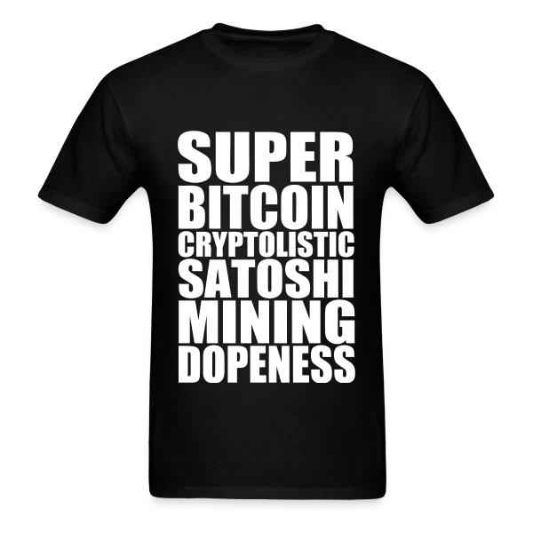 Super Bitcoin Black T Shirt