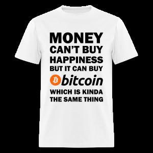 Bitcoin Happy White T Shirt