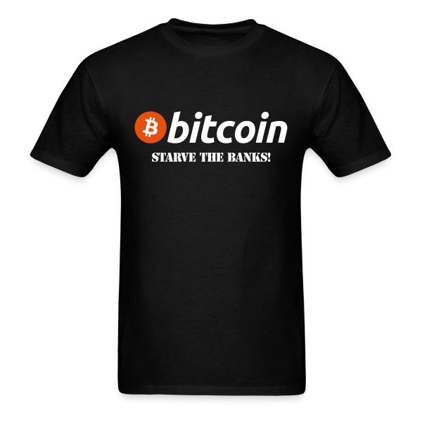 Bitcoin Starve Banks Black T Shirt