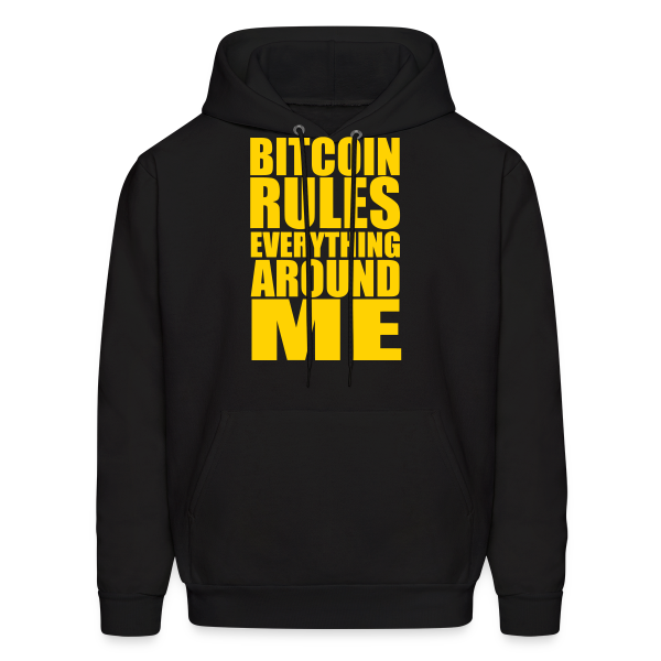 Bitcoin Rules Everything Black Hoodie