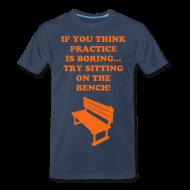T-Shirts ~ Men's Premium T-Shirt ~ Sitting on the bench Tee
