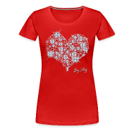 Women's T-Shirts ~ Women's Premium T-Shirt ~ Big Bling Heart