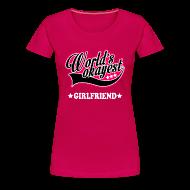 Women's T-Shirts ~ Women's Premium T-Shirt ~ worlds_okayest_girlfriend Women's T-Shirts