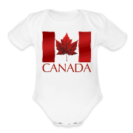 Baby & Toddler Shirts ~ Baby Short Sleeve One Piece ~ Canada Flag Souvenir Baby Creeper Canadian Souvenir Baby Romper