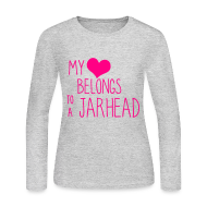 Long Sleeve Shirts ~ Women's Long Sleeve Jersey T-Shirt ~ JarHead ( Long Sleeves )