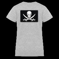 Women's T-Shirts ~ Women's V-Neck T-Shirt ~ Jolly Roger