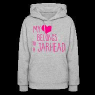 Hoodies ~ Women's Hooded Sweatshirt ~ JarHead Hoodie
