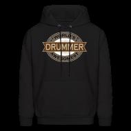 Hoodies ~ Men's Hooded Sweatshirt ~ Drummer Music Hoodie (Awesome)