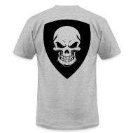 T-Shirts ~ Men's T-Shirt by American Apparel ~ Gray With Black Shield