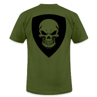 T-Shirts ~ Men's T-Shirt by American Apparel ~ OD With Black Shield