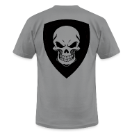 T-Shirts ~ Men's T-Shirt by American Apparel ~ Slate With Black Shield