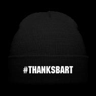Caps ~ Knit Cap with Cuff Print ~ #ThanksBart Beanie