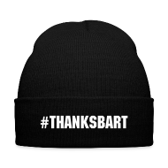 Caps ~ Knit Cap with Cuff Print ~ #ThanksBart Beanie
