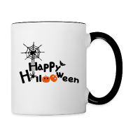 Bottles & Mugs ~ Contrast Coffee Mug ~ happy halloween Contrast Coffee Mug